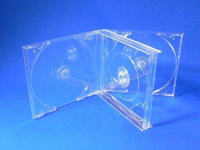 画像1: 【日本製】CDジュエルケース4枚用ダブルサイズ100個セット