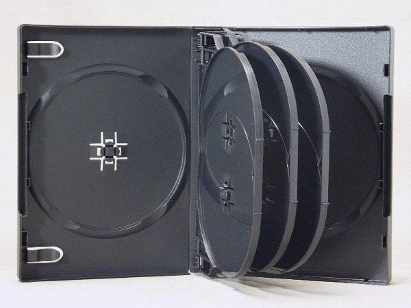 画像1: 【高品質タイプ】DVDトールケース8枚用 黒 104個セット (1)