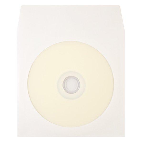 画像1: 紙スリーブケース(窓つき) 100枚パック 白 100枚 (1)