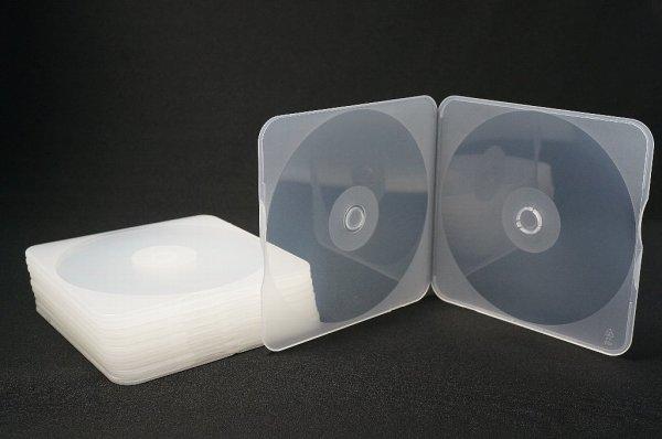画像1: 【割れにくいケース】4mm厚 PPスリムメールケース 1枚収納 透明 200個セット (1)