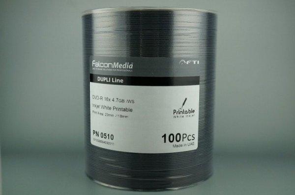 画像1: 【品質重視】【Falcon/ファルコン社製】 DVD-R ワイドプリント 600枚セット (1)