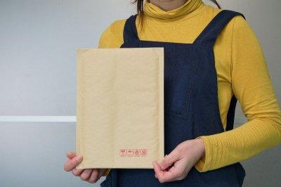 画像1: 【クッション封筒】DVDケース用 クラフト色