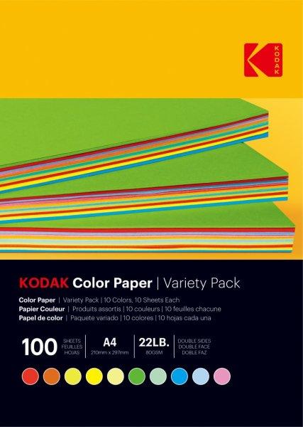 画像1: 【KODAK】カラーペーパー上質紙 MIXカラー(10色) 100枚 (1)