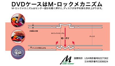 画像1: Mロック7mmスリムDVDトールケース ばら売り